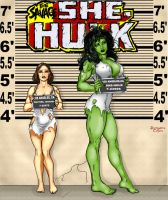 She-Hulk line up by THE-Darcsyde