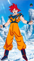Goku ssj God New Movie Style Wallpaper by daimaoha5a4