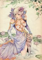Lotus Queen by Archie-The-RedCat