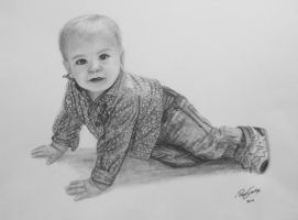 Baby pencil drawing by GTracerRens
