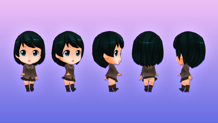 Anime Chibi - School Pack - Girl 2 by OnBeeBox