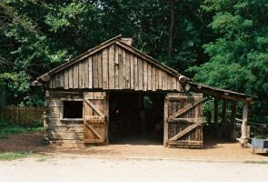 Old Wooden Blacksmith Shop by Texas1964