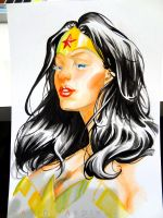 Wonder Woman Watercolour Step 7 by davidyardin
