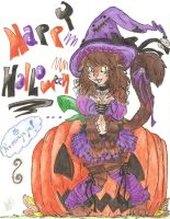 Happy Halloweeeeeeeen colored by Ira-WratH