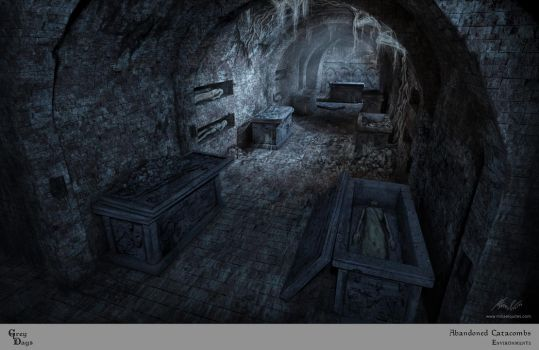 Grey Days - Abandoned Catacombs by mikaelquites