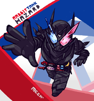 Kamen Rider Build RabbitTank Hazard by MeensArts
