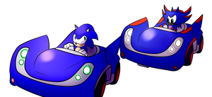 Me VS Sonic by MarnicSteve92