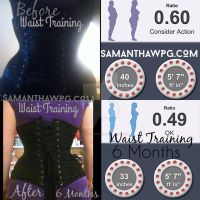 Corset Training Before and After by VisualEyeCandy