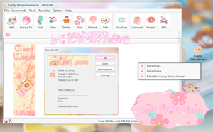 Candy Winrar Theme by ietf4899Love