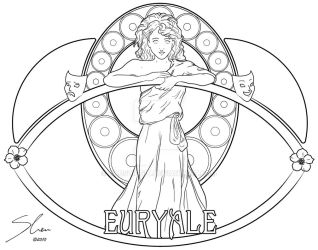 Euryale Lineart by causticgit