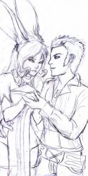 Fran+Balthier Younger Days by straywillowisp