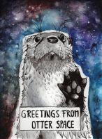 Greetings from Otter Space by LadyTinuz
