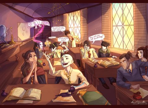 avatarded Hogwarts by viria13