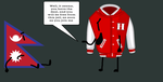 Varsity Jacket has a deal with Nepal Flag in Jail by AzUrArInG