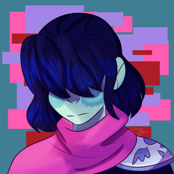 omg is that kris deltarune by Sheepaleepz