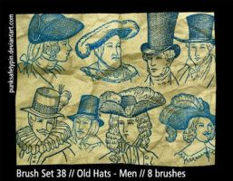 Brush Set 38 - Old Hats-Men by punksafetypin