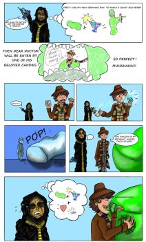 DW : Attack of the Giant Jellybaby by Campanita42