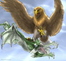 eagle and dragon by Tacimur
