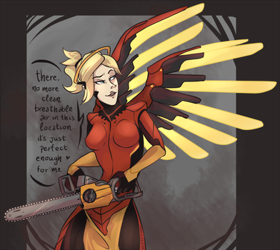 Commission - Chainsaw Mercy by Martiverse