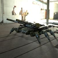 Spider Tank in a Warehouse by VanishingPointInc
