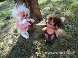 Myth-Babies Wolf Girl and Baby Satyr, 2 of 4 by briescha