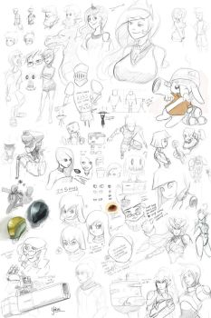 Sketchdump: October 2014 by Yokal5