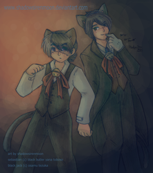 Gift- Neko Black Jack and Neko Sebastian by shadowsirenmoon