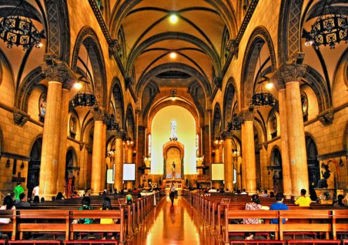 Interior of Manila Cathedral by lordMon