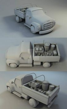 Cartoon Truck by 3D-BUG