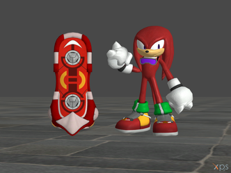 Sonic Riders (Knuckles and Red Rock) by Spinosaurusking875