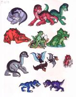 Land Before Time next generation by WhiteFangKakashi300