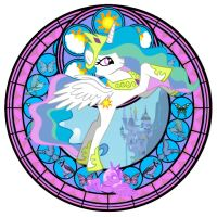 Celestia Stained Glass WIP by Akili-Amethyst