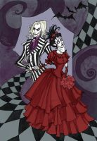 Beetlejuice and Lydia by IrenHorrors