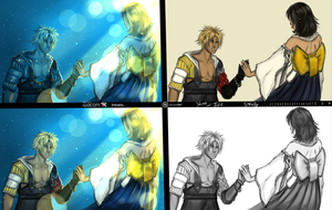 FFX: Yuna and Tidus 4 samples by shallete