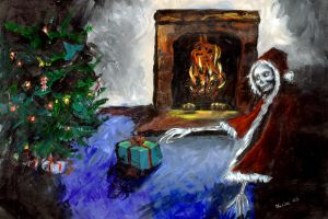 Scary Christmas by maxine
