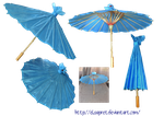 Little blue umbrella by Elsapret