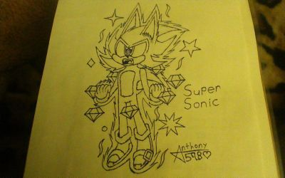 .:Super Sonic Sketch:. by Anthony598