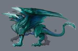 Azure Lightning Dragon by PLSN