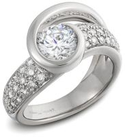 Platinum Diamond Ring by DianaVincent