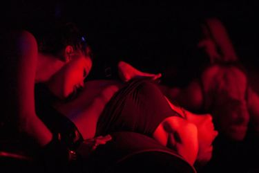 Two Girls in a San Fran Club by PerryGallagher
