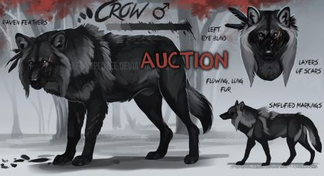 Big black spooky wolf auction: Closed by Chickenbusiness