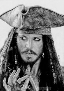 :CAPTAIN JACK SPARROW: by Angelstorm-82