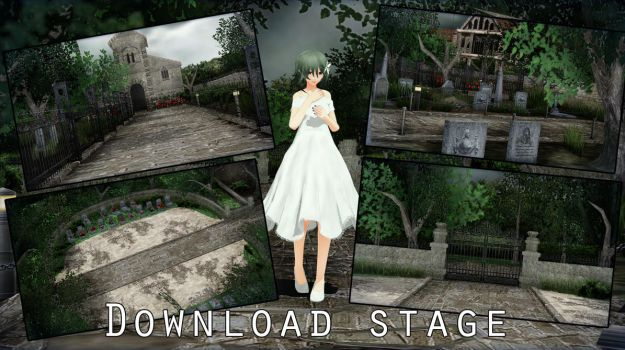 MMD Stage Mansion DL by ElviraMoa