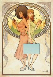 Mucha-esque chicks by DrummerboyDomo