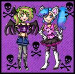 punk felicia and morrigan by ninpeachlover