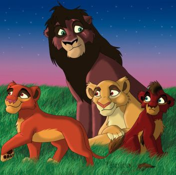 Lion Family by Timitu