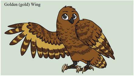 Golden (Gold) Wing by Mistyfoot14573