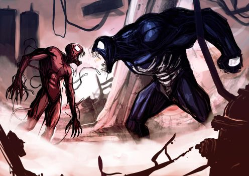 Carnage and Venom (WIP) by ExMile