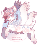 Wild Blue Blossoms Auction (closed) by tyronniesaur