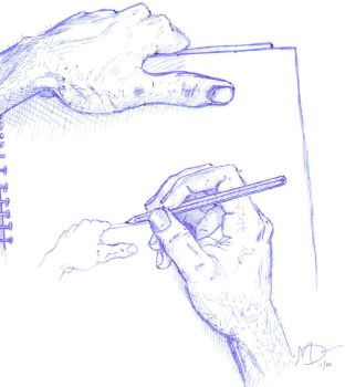 Drawing Hands by saintmark10